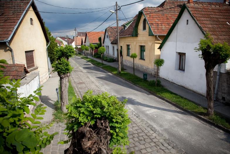 Utcakép lakóházakkal