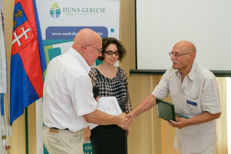 Hild díj átadása Bernáth Mihálynak