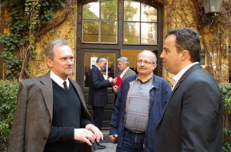 Salamin Ferenc, Csanády Pál és Kolossa József főosztály vezető